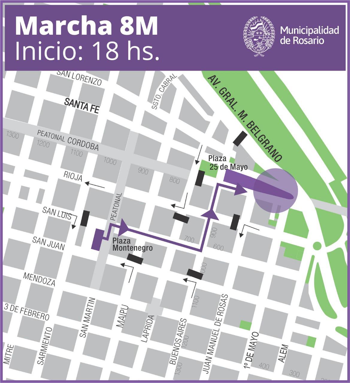 mapa marcha